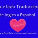 Puntada Traduccion