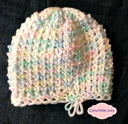 Tiny Heart Stitch Hat ComoTelar