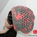 Gorro con Punto Mock Crochet en Telar Redondo